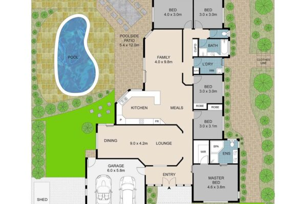floor plans to maximise your potential of selling. At Sunshine property photos we measure and draw your property and provide you with a great product for your listing. Sunshine Coast property.